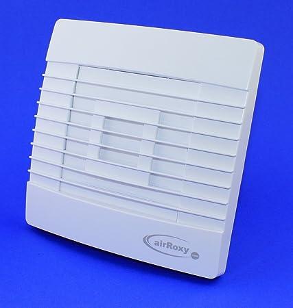 Badventilator Ø 100 mm Jalousie / Lamellen mit Feuchtigkeitssensor / Hygrostat und Timer / Nachlauf Badlüfter Lüfter Ventilat