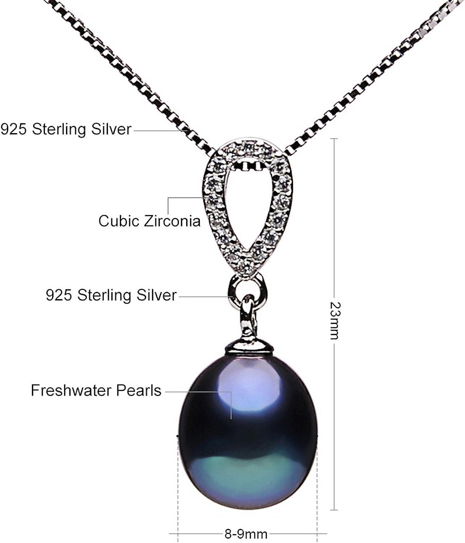 CS-DB Pendants Pearl Black Pearl Silver Necklaces