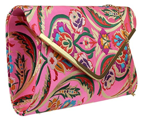 HandBags Baroque Girly Bag Clutch Pink Girly HandBags Flower WnEfxt5a