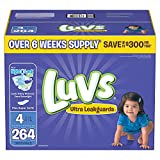 Branded Luvs Ultra Leakguards Diapers - Diaper Size Size 4 - 264 Ct. (Bulk Qty at Whoesale Price, Genuine & Soft Baby diaper)