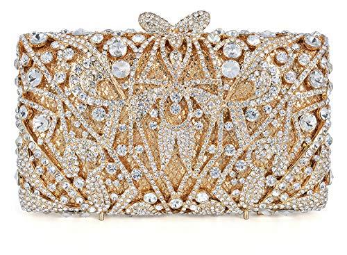 Bride Evening Bags - Crystal Clutch for Women Rhinestone Evening Bag