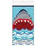 "Unique Shark Party Plastic Tablecloth, 84"" x 54"""