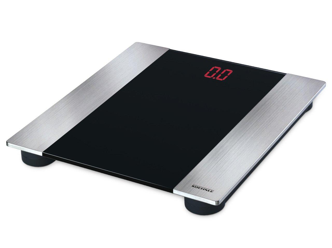 Soehnle 63536 Linea Digital Bath Scale, Silver/Black