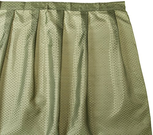Sink Skirt - Carnation Home Fashions Lauren Dobby Fabric Sink Skirt, 56-Inch by 32-Inch, Sage