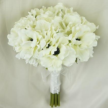 Amazon lily garden silk anemone artificial flowers wedding lily garden silk anemone artificial flowers wedding bouquet ivory mightylinksfo