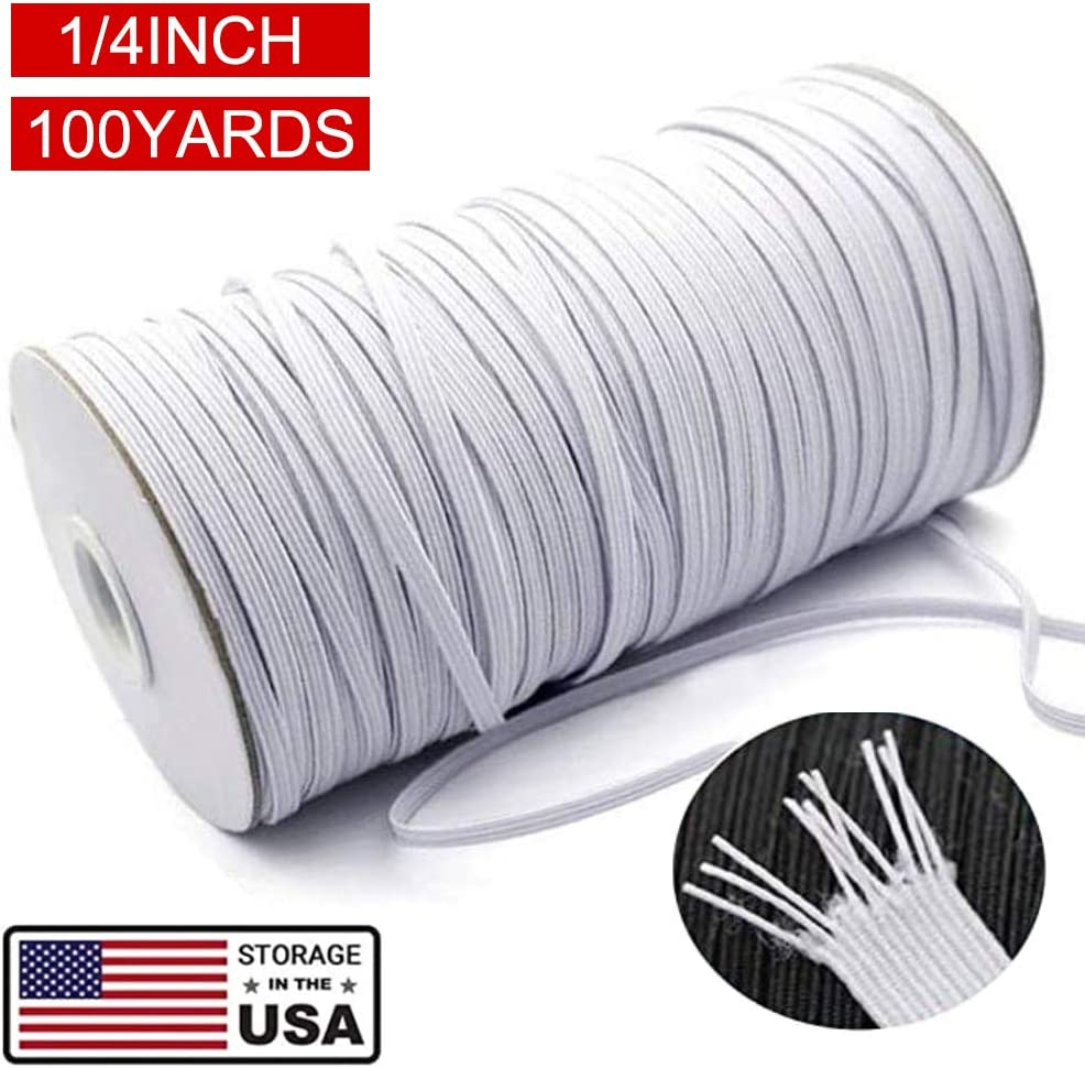 Amazon Com Flat Elastic Bands For Sewing 100 Yards 1 4inch