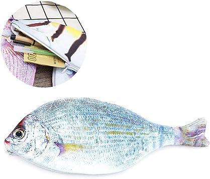 Womdee - Estuche para bolígrafos con forma de pez de gran capacidad para la escuela media y la oficina, unisex, para adultos: Amazon.es: Bricolaje y herramientas