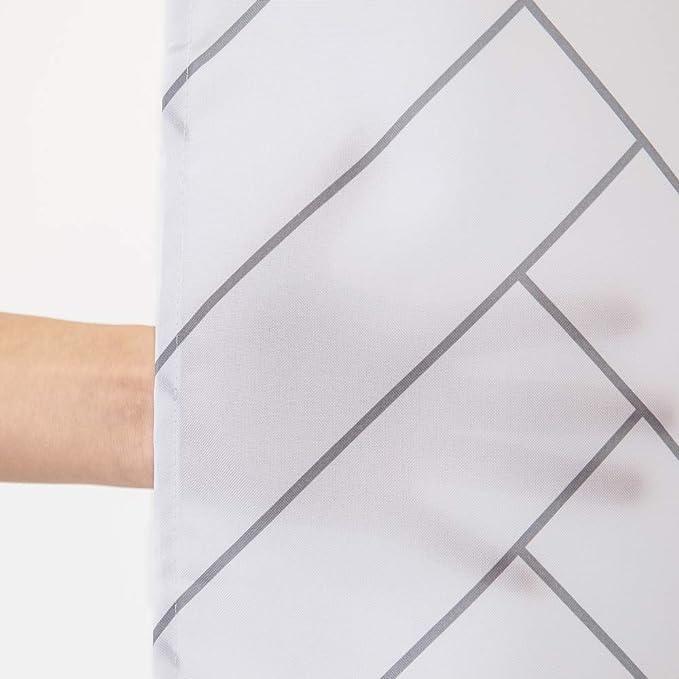 Tenda da Doccia Tende da Doccia Impermeabile antimuffa e antibatteri,asciuga Velocemente con 12 Ganci in plastica di Alta qualit/à,Usato nel Decorativo Domestico Accessori da Camera da Letto