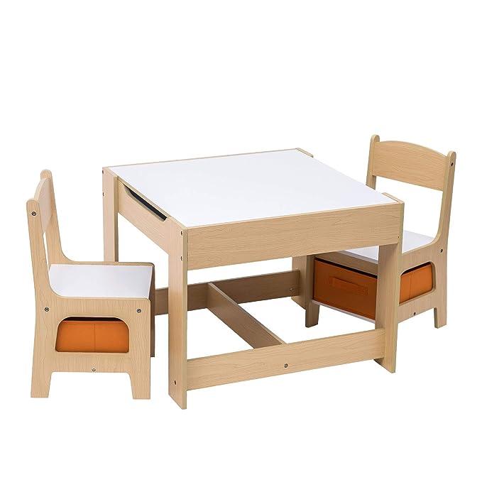 E-starain Infantil de Mesa y Asientos para Niños Juego de Muebles ...