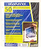 HQ Advance Products Crystal Clear Sheet Protectors, Standard Weight, 50-Count (42512)