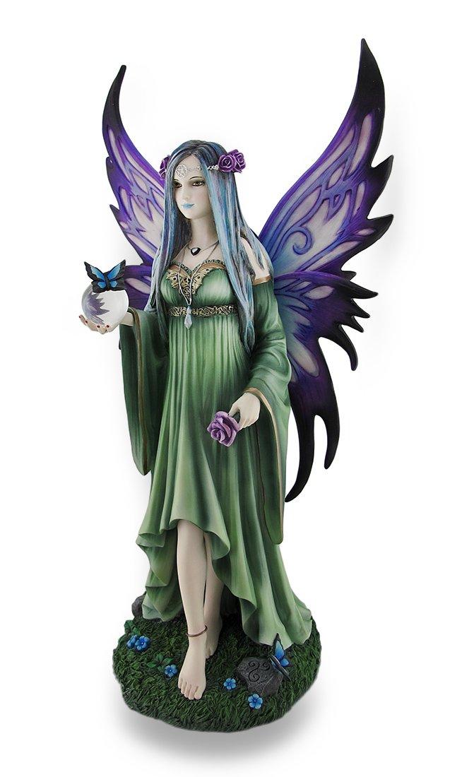 Veronese Design Large Anne Stokes Mystic Aura Fantasy Fairy Statue 15 in.