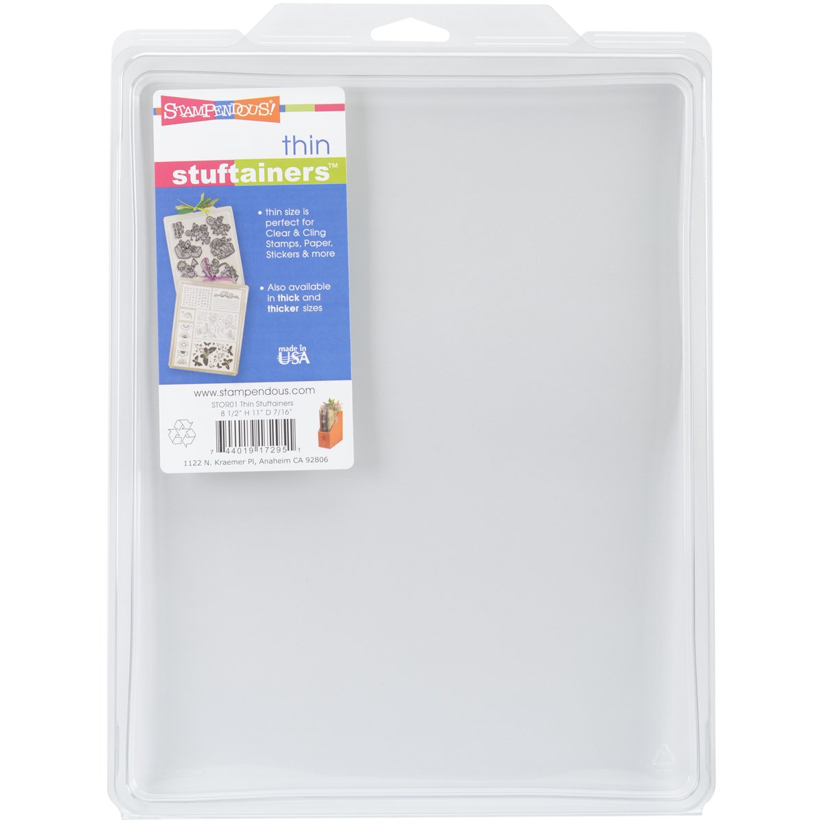 Stampendous Thin Storage Solutions, 8-1/2-Inch by 11-Inch by 0.44-Inch Notions - In Network STOR01