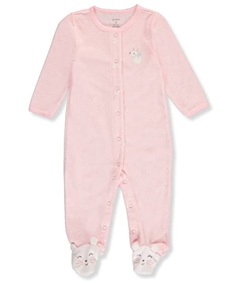 b6a009d4c Carter s Baby Girls  One Piece Mouse Sleep   Play