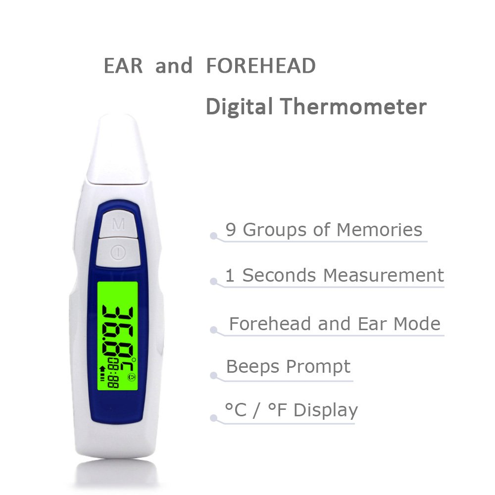 Cocopa Forehead Baby Thermometer Digital Infrared Non Contact