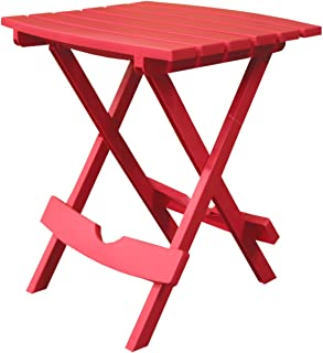 product image for Adams Manufacturing 8500-26-3700 Plastic Quik-Fold Side Table, Cherry Red