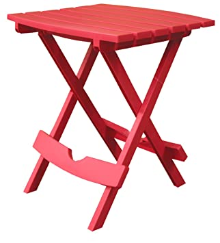 Superb Adams Manufacturing 8500 26 3700 Plastic Quik Fold Side Table, Cherry Red