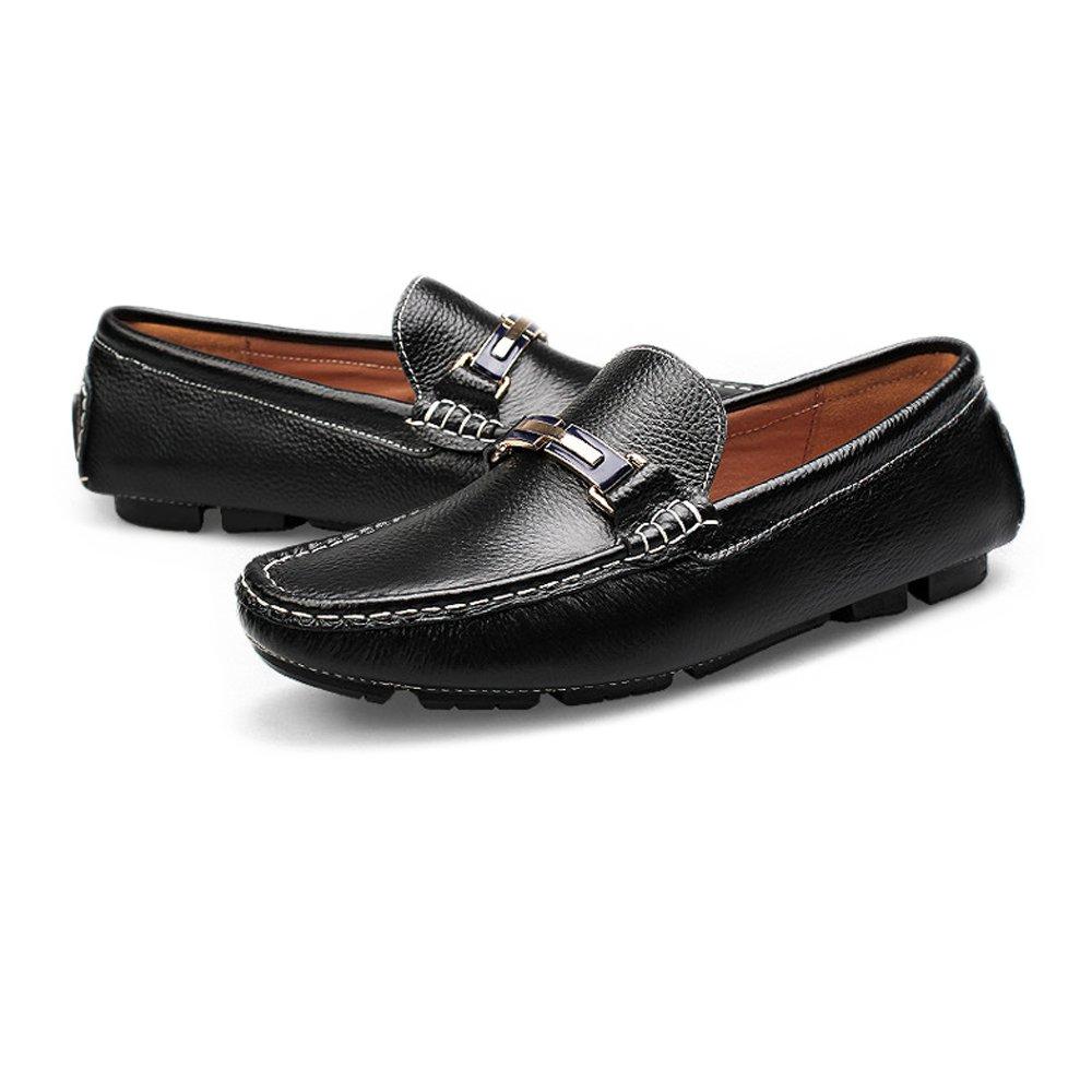 2018 Mocasines Zapatos para Hombre Hombre Hombre Zapatos de conducción de Color sólido Penny Boat Zapatos Suela de Goma Casual Mocasines Mocasines (Color : Negro, tamaño : 36 EU) 02cca7