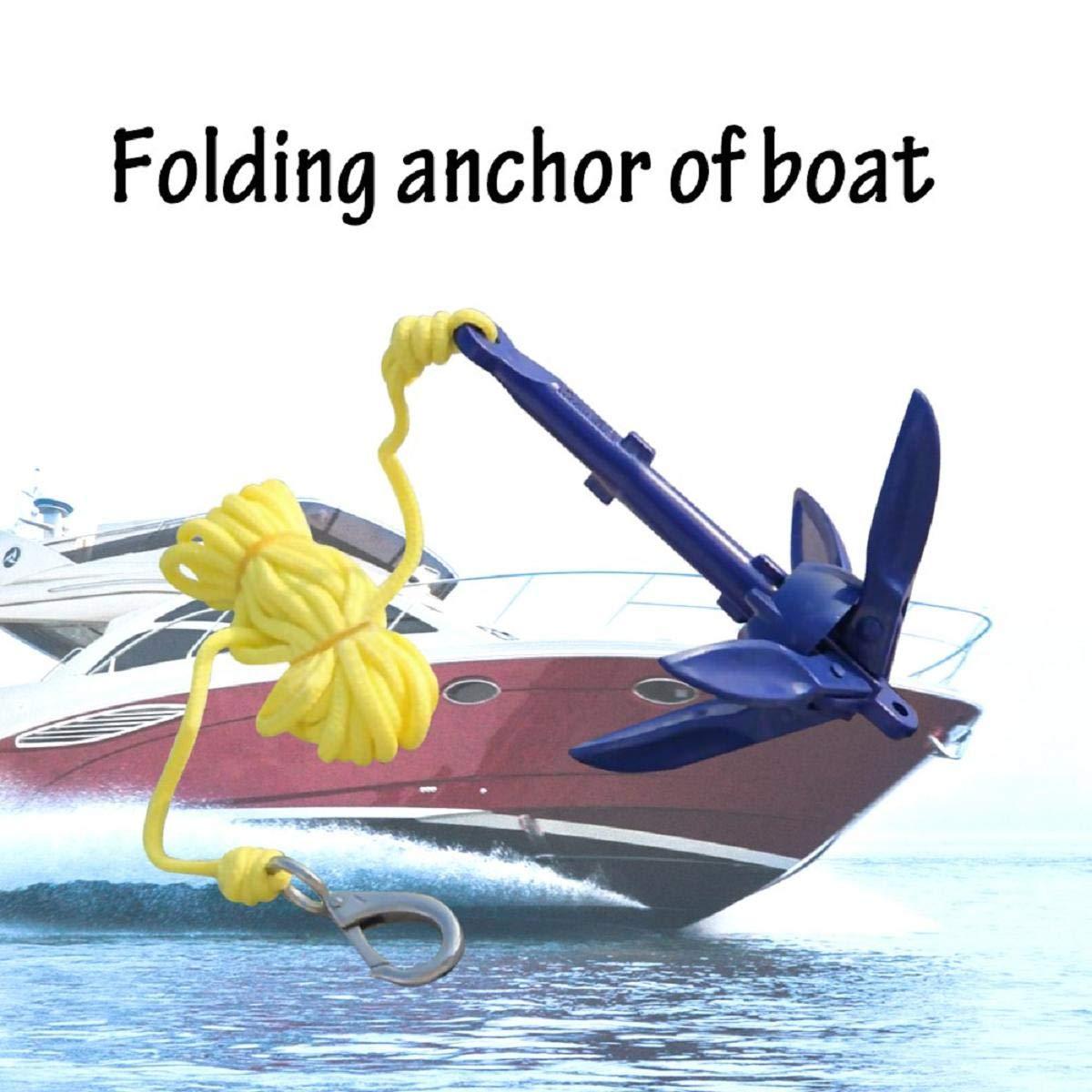 7x6.3 Pollici Kit di Ancoraggio Pieghevole INC 6.m Linea e marcatura Vaycally 1PCS Kit Cinghie di Ancoraggio Compatto Kit Corda di Ancoraggio per Corda Canoe Kayak Barche a Vela 18x16 cm