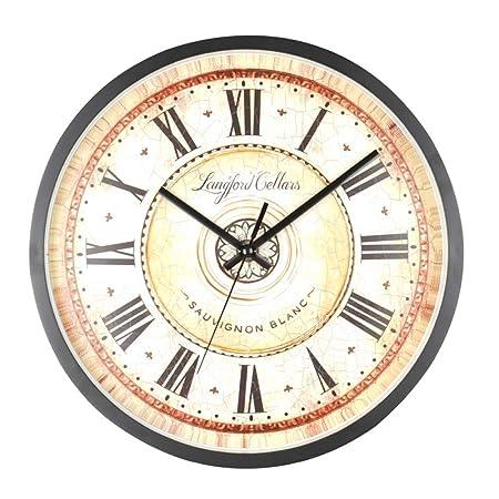 QXbecky 12 Pulgadas Antiguo número Romano Reloj Mesa Arte Vintage ...