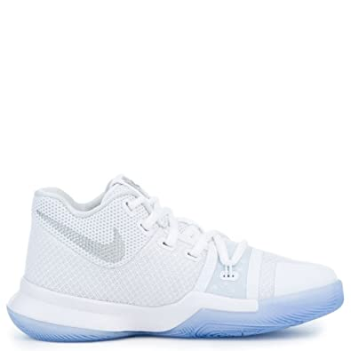 7b6fc5733a90 Amazon.com  Nike Boy s Kyrie 3 (PS) Size 13C White Chrome 869985 103 ...