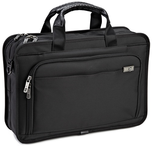 Victorinox Luggage Architecture 3.0 Monticello 17inch Laptop Brief, Black, One Size, Bags Central
