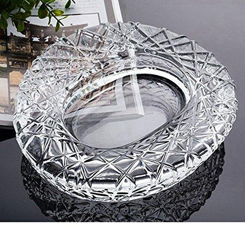 jenifer2015 Crystal Cut Glass Round Ashtray Ash Tray7.67