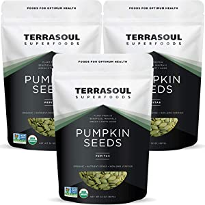 Terrasoul Superfoods Organic Pumpkin Seeds, 6 Lbs - Premium Quality | Fresh | Raw | Unsalted