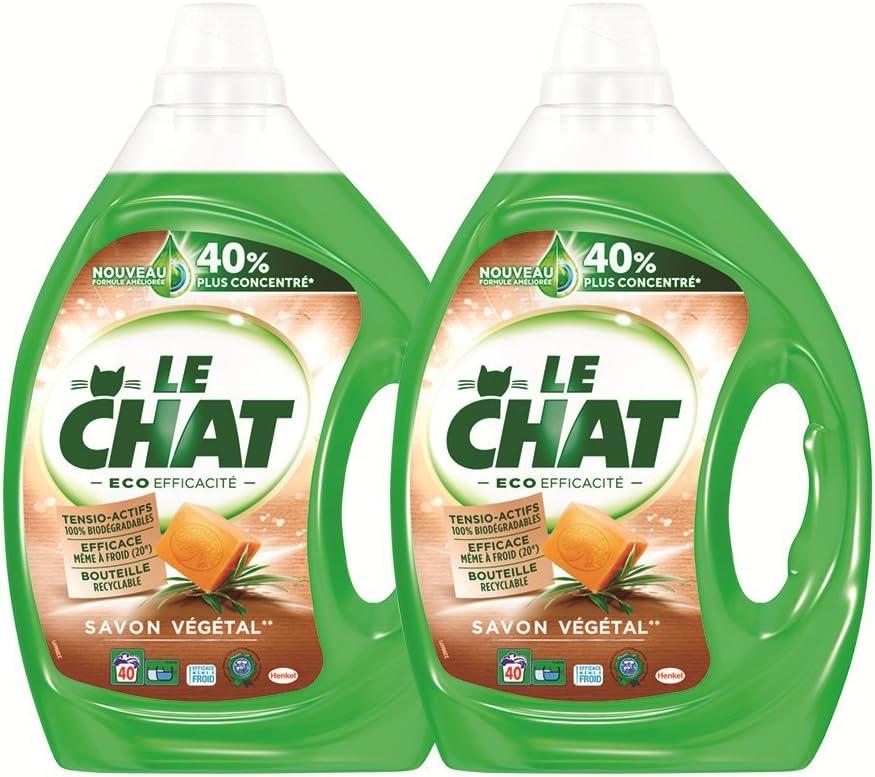 Le Chat Eco eficiencia lavandería líquido 2 L – Juego de 2: Amazon ...