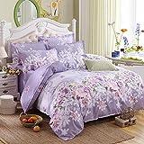 Floral Print Duvet Cover Set Bed in a Bag Bedding Set (full)