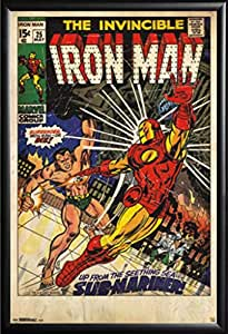 amazoncom framed the invincible iron man 24x36 poster
