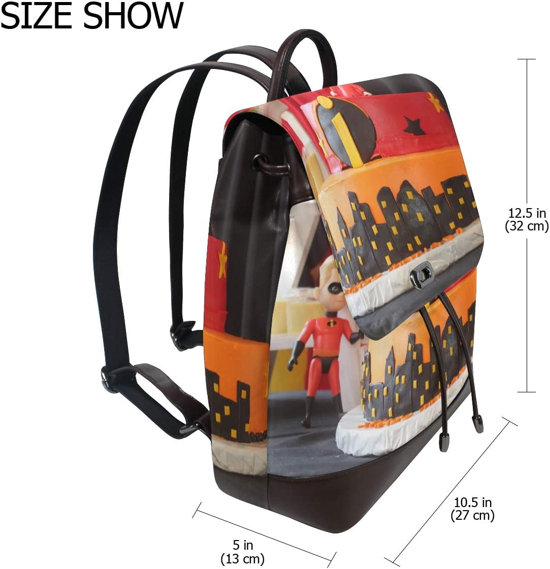 Shopping Bag School Bag Travel Bag Backpack Storage Bag For Men Women Girls Boys Personalized Pattern Birthday Cake