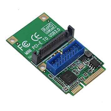 JMT Tarjeta de Adaptador Mini PCI-E a USB 3.0 Mini PCI ...