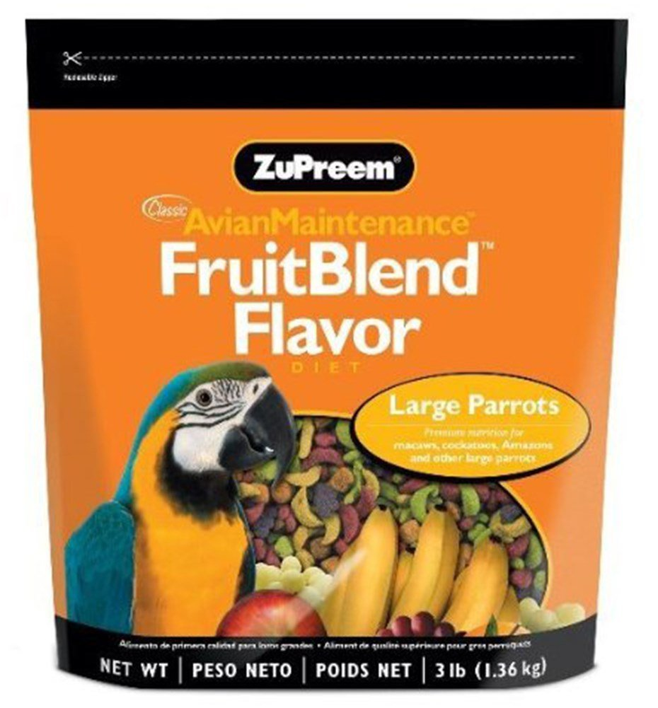 ZuPreem AvianMaintenance FruitBlend Bird Diet for Large Birds 17.5 pounds by ZuPreem