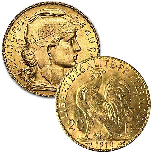 French 20 Franc Gold, Rooster/Napoleon.1867 Ounce Gold Coin
