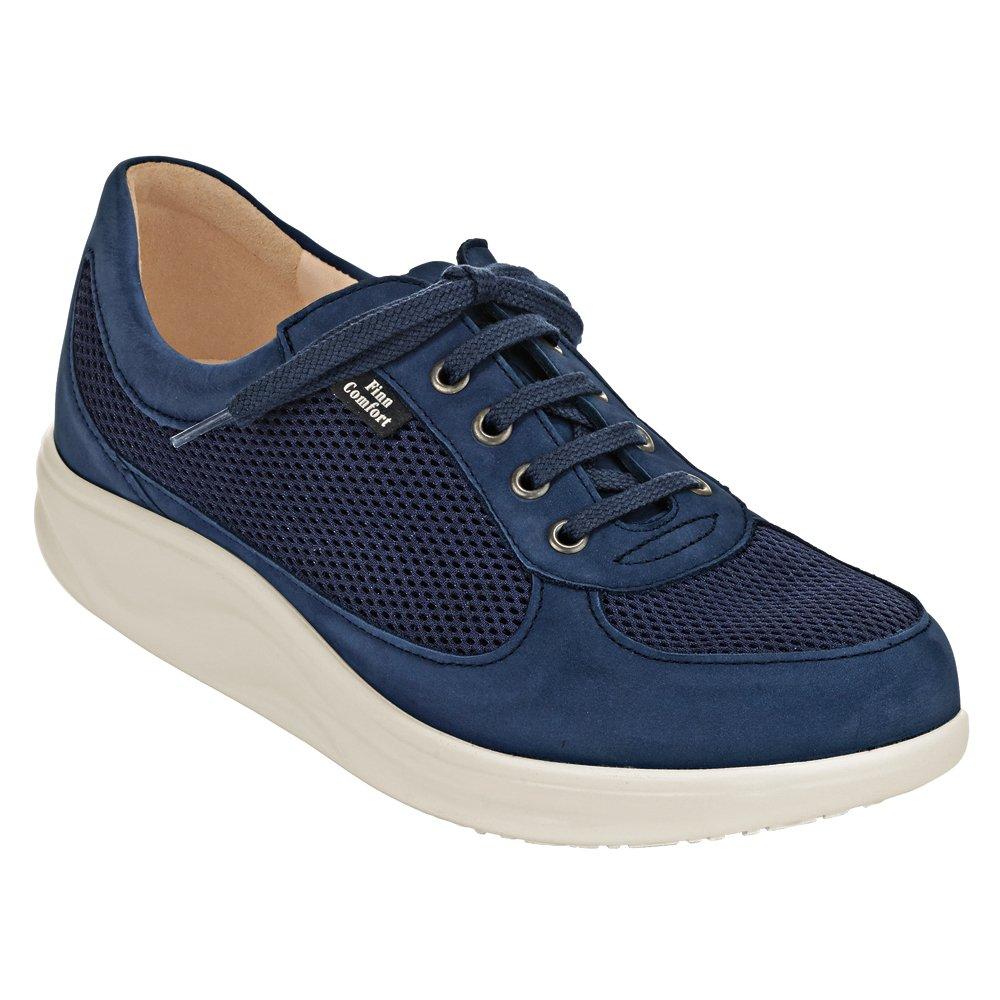 Finn Comfort - Zapatos de Cordones de cuero Mujer 9 (UK Women's 6.5) Medium|Denim Patagonia, Skipper