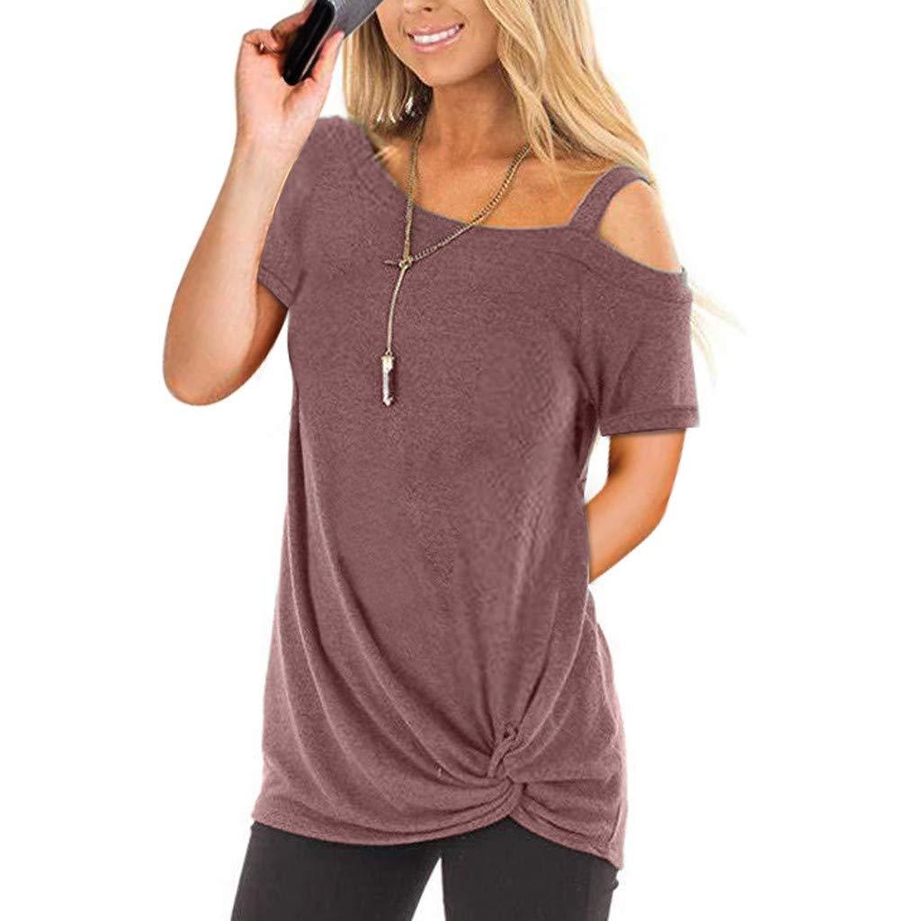 UFACE Damenmode Kurzarm Reine Farbe Top Fashion T Shirt Damen Bluse