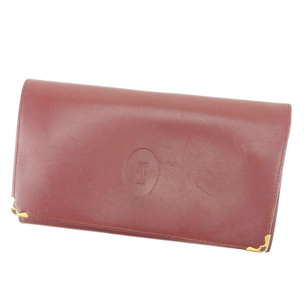 (Cartier) カルティエ がま口 財布 長財布 二つ折り メンズ可 マストライン 中古 T6538   B07MVC6PKD