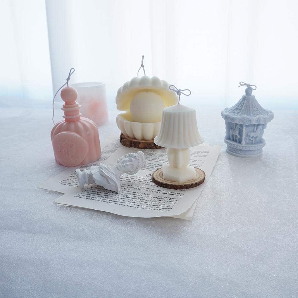 Schokolade Harz Seifenformen Farbe Zuf/ällig TARTIERY Karussell Kerzenform Lebensmittelqualit/ät Silikonkerze Formen Herstellen Kuchen Fondant Dekorieren S/ü/ßigkeiten Kerze