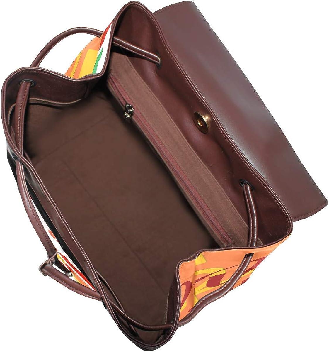PU Leather Shoulder Bag,Dine With Santa Backpack,Portable Travel School Rucksack,Satchel with Top Handle