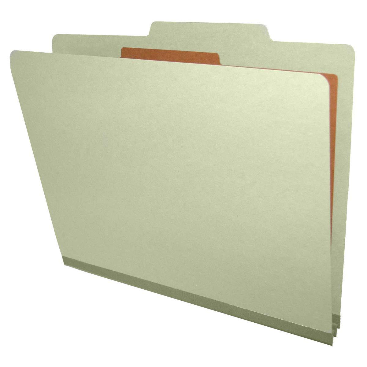 Top Tab 10 Pack 1 Divider Gray Green Pressboard Classification Folders Letter Size