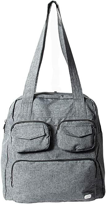 Lug Women's Puddle Jumper Packable, Heather Grey Duffel Bag, One Size