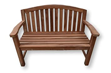 Super Patio Essentials Balmoral Solid Teak Garden Bench Seat 1 2M 4Ft Curved Back 2 Seater Plaque And Bench Engraving Available Bench Engraving Caraccident5 Cool Chair Designs And Ideas Caraccident5Info