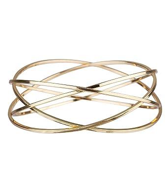 Six Trend Gold Farbener Armreif Aus Vier Fest Verbundenen Reifen