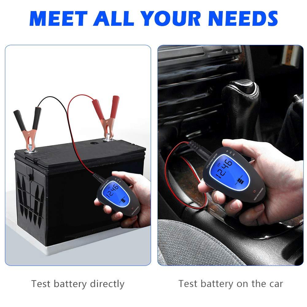 LST 6V//12V//24V Battery Tester Automotive Battery Meter Car Battery Voltage Tester Digital Analyzer
