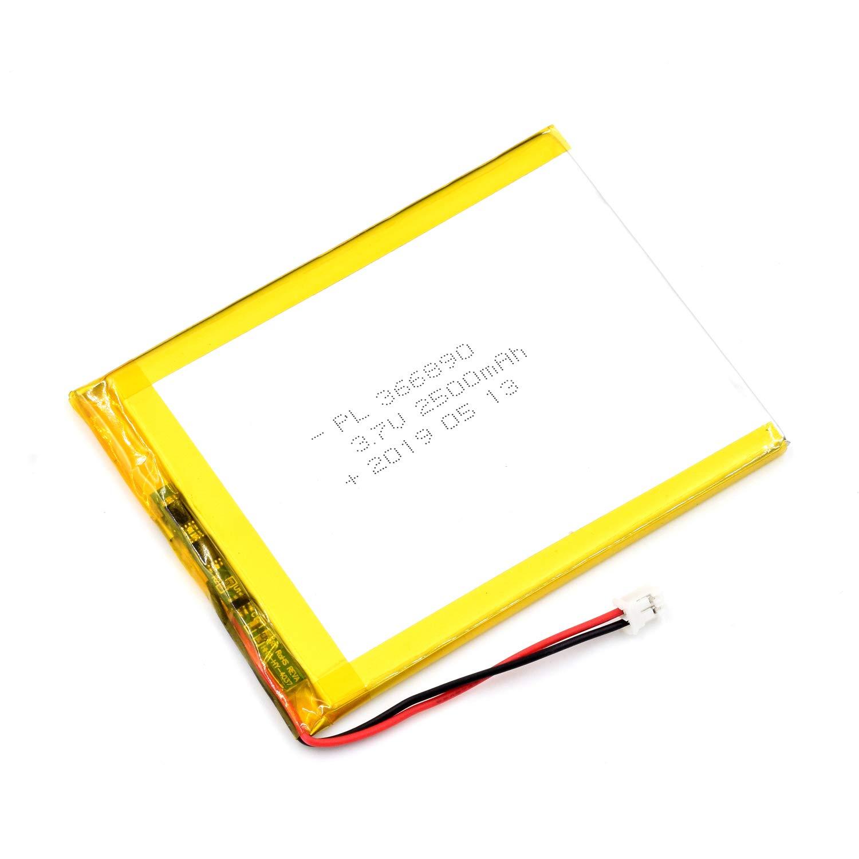 Bateria Lipo 3.7V 2500mAh 366890 Recargable JST Conector