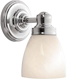 world imports lighting 8025 08 troyes 1 light wall sconce chrome