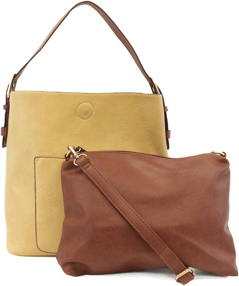 Joy Susan Womens Classic Hobo 2-in-1 Handbag