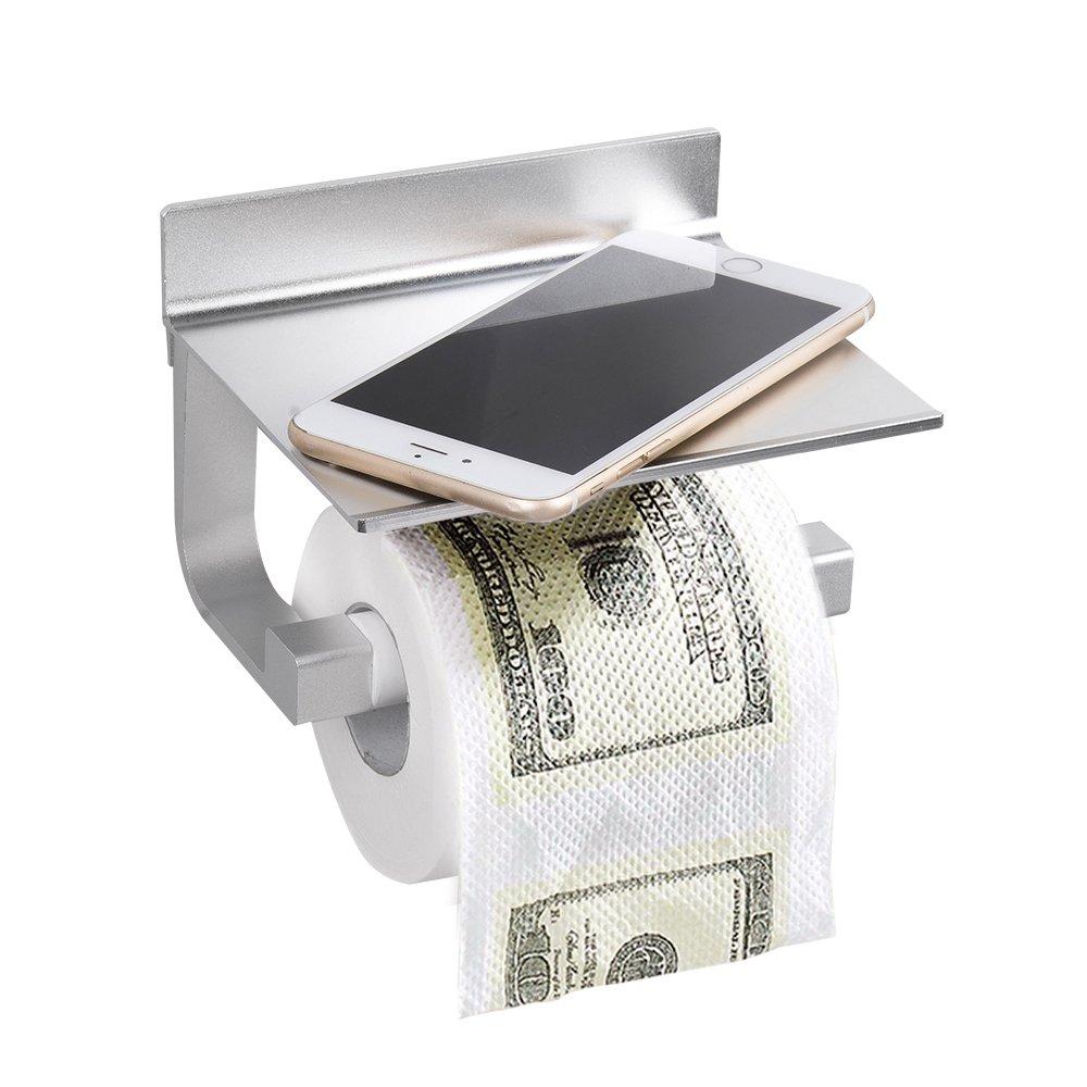 Wopeite Self Adhesive Toilet Paper Holder Space Aluminum Tissue Paper Roll Holder Rustproof