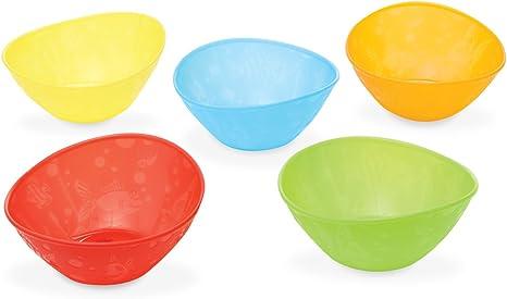Munchkin - Pack de 5 cuencos para comida, surtido de colores: Amazon.es: Bebé