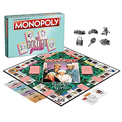 USAOPOLY Monopoly The Golden Girls Board Game | Golden Girls TV Show Themed Game | Officially Licensed Golden Girls Merchandise | Themed Monopoly Board Game: Toys & Games